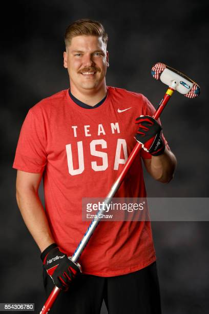 Curler Matt Hamilton poses for a portrait during the Team USA Media Summit ahead of the PyeongChang 2018 Olympic Winter Games on September 26 2017 in...