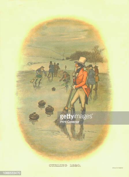 Curling 1820' circa 1910 One of a set of advertisements showing Johnnie Walker's Striding Man in various sporting scenarios Artist Tom Browne