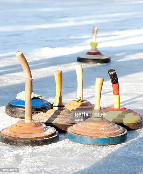 curling-sport-Eisstockschießen stock