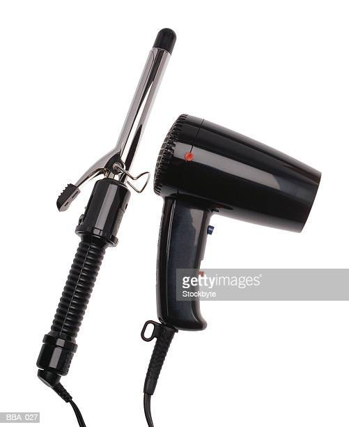 Curling iron and hair dryer