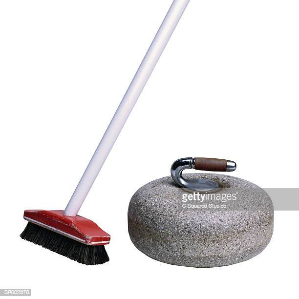 Curling Stone and Broom