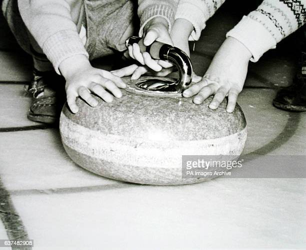 A curling stone at Richmond