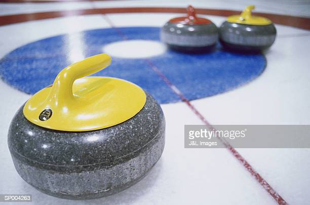 Curling Stones Close-Up
