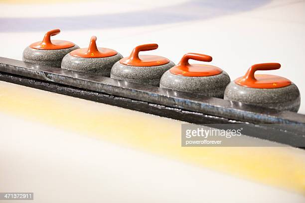 curling stones - curling stone stock pictures, royalty-free photos & images