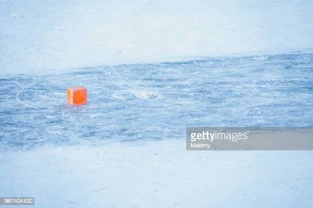 curling target marking. outdoor curling rink. ice stock sport. - winter sports event stock pictures, royalty-free photos & images