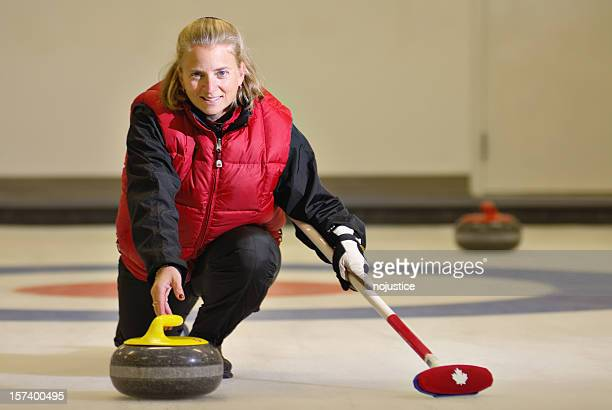 Curling Woman