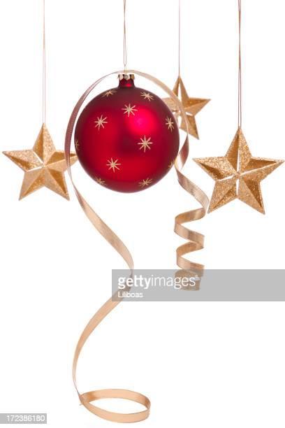 Curly Navidad Bauble y estrellas (XL