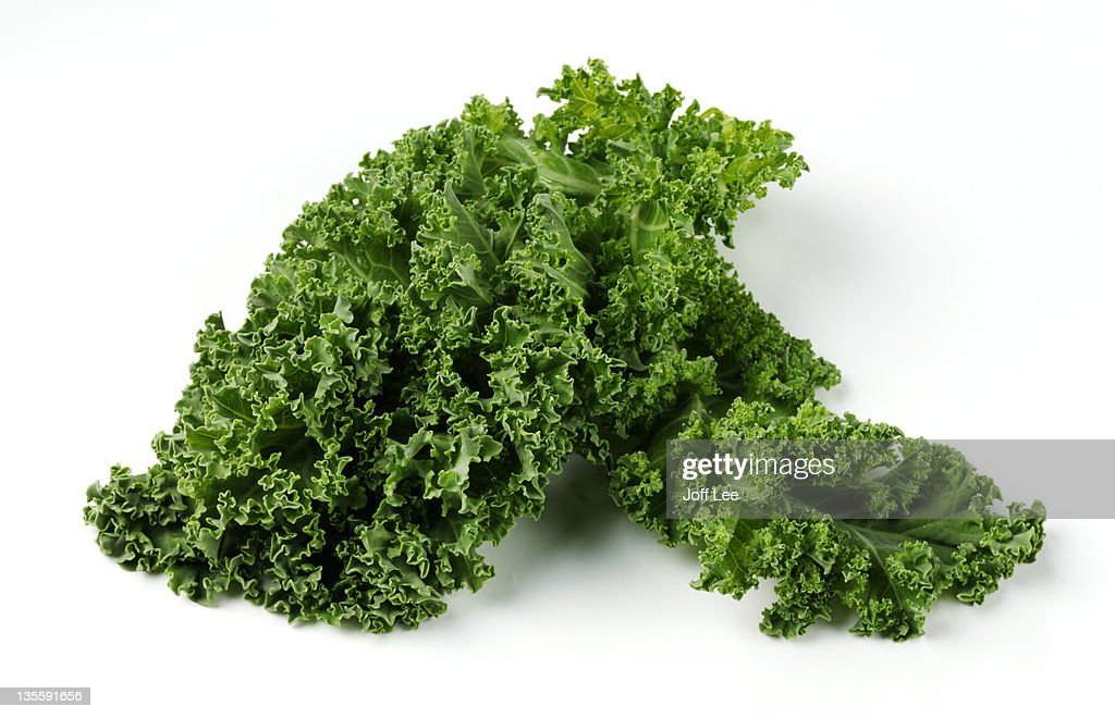 Curly kale, close up : Stock Photo