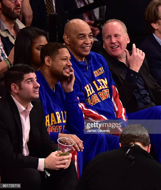 Curly Neal attends the Minnesota Timberwolves vs New York Knicks game at Madison Square Garden on December 16 2015 in New York City