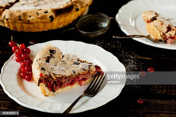 currant cake on wooden ground - carolafink stock photos and pictures
