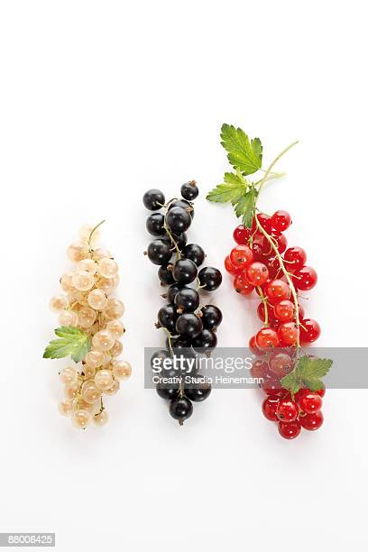 Currants on white background, close-up