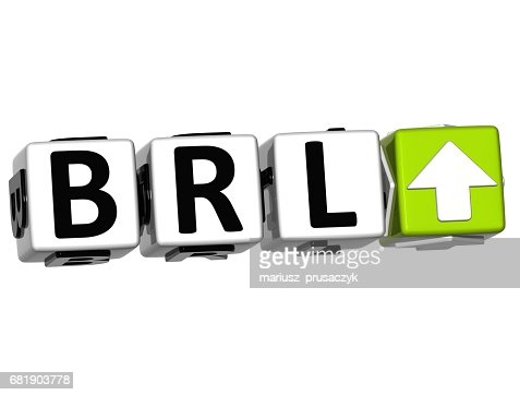 Currency Brl Ate Concept Symbol Button On White Background Stock