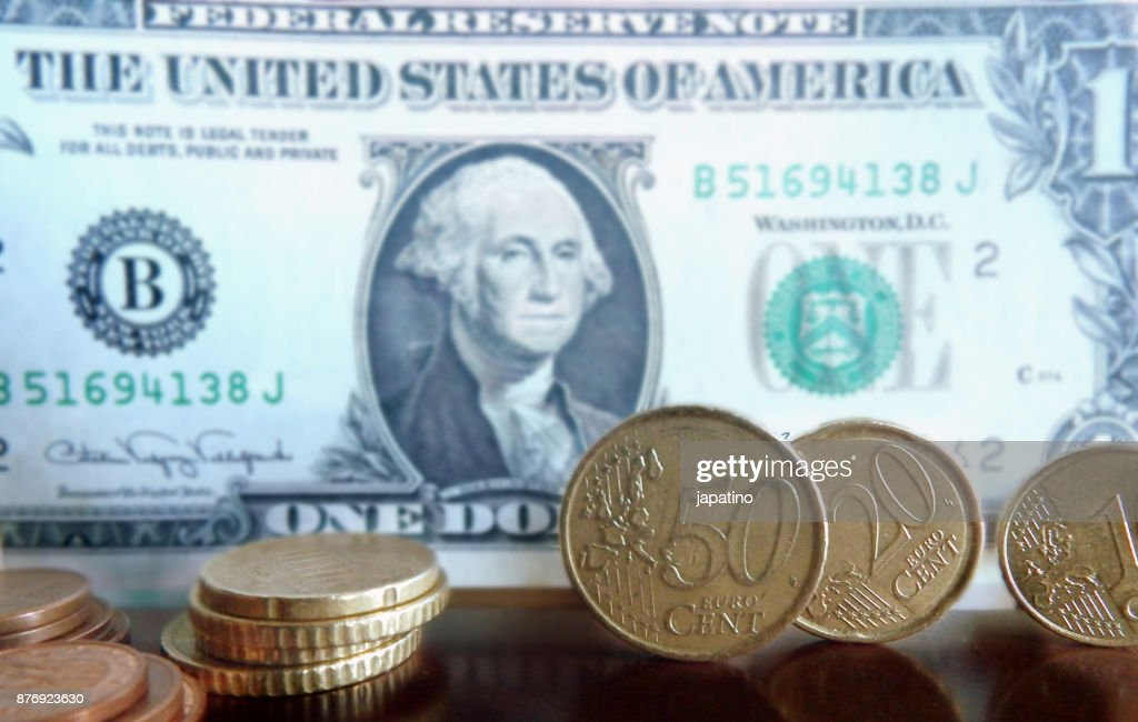 Currency Exchange Euro Dollar Stock Photo