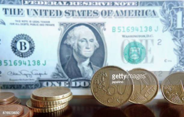 currency exchange, euro dollar - dollar sign key stock photos and pictures