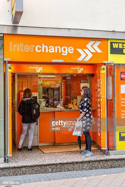 Currency exchange office street booth in Budapest