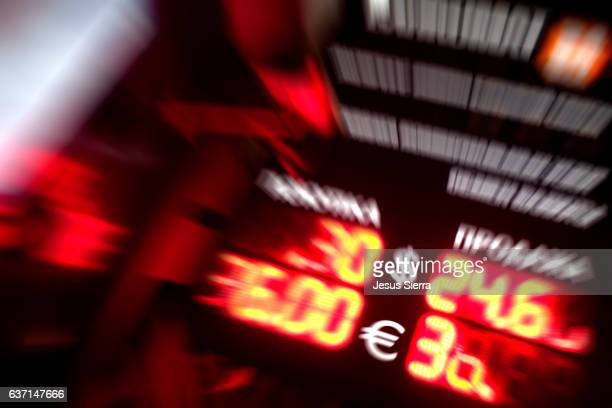 Currency exchange. Russian Ruble, US Dollar, Euro