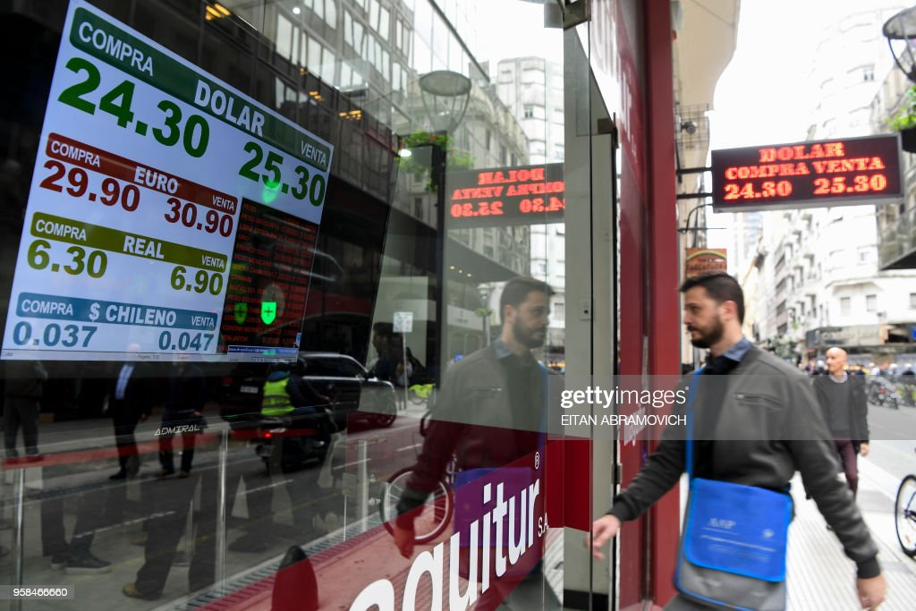 Currency exchange values are displayed in the buy sell board of a