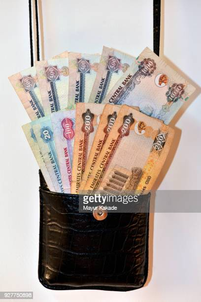 UAE currency notes in the purse