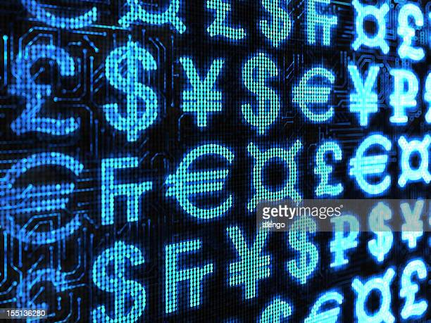 currency of the world & generic symbol - currency symbol stock pictures, royalty-free photos & images