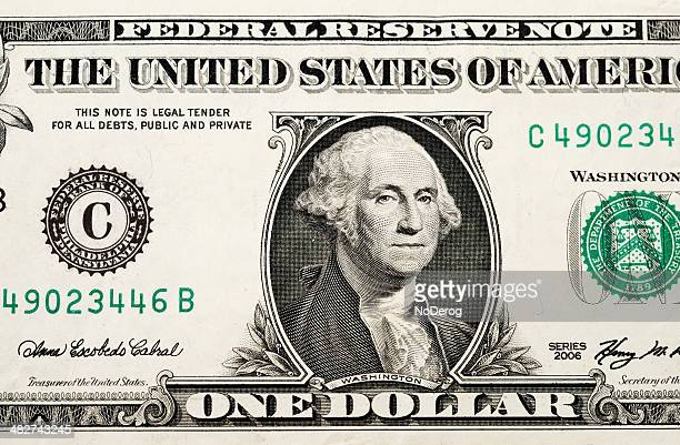usa currency one dollar bill - american one dollar bill stock pictures, royalty-free photos & images
