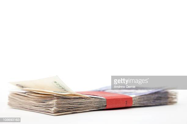 currency - twenty pound note stock photos and pictures