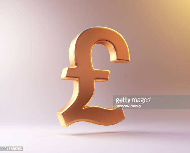 currency symbol pound sign - gold stock pictures, royalty-free photos & images