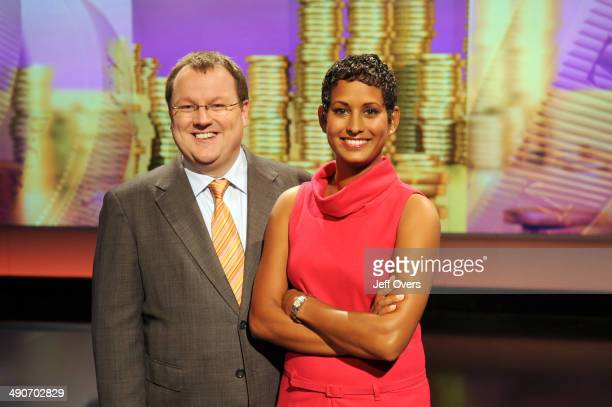 BBC TV current affairs programme Working Lunch presenters Declan Curry and Naga Munchetty