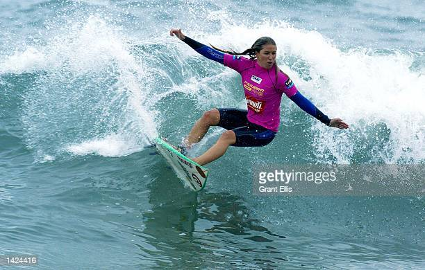 Current ASP world number six Jacqueline Silva of Brazil advances to the quarterfinals of the Figueira Pro at Figueira da Foz, Portugal on September...