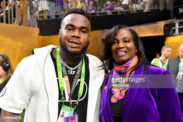 Current Atlanta Falcon All-Pro, and former Clemson Tiger, Grady Jarrett, served as an honorary captain, pictured with his mother Elisha Jarrett,...