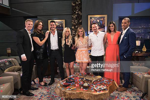 PARADISE Current 'Bachelor in Paradise' contestants Josh Amanda Carly Evan Jen Grant and Lace are panelists on the season finale of ABC's hit...