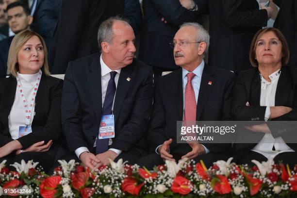 Current Chairman of Turkey's main opposition Republican People's Party Kemal Kilicdaroglu his wife Selvi Kilicdaroglu CHP Yalova lawmaker and...