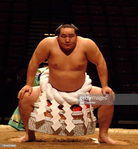 Current Grand Champion 25 yearold Dolgorsuren Dagvadorj from Mongolia at the opening ceremony of the Grand Sumo Championships
