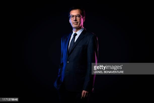 TOPSHOT Current Keolis CEO and incoming Société nationale des chemins de fer français group CEO JeanPierre Farandou poses during a photo session in...