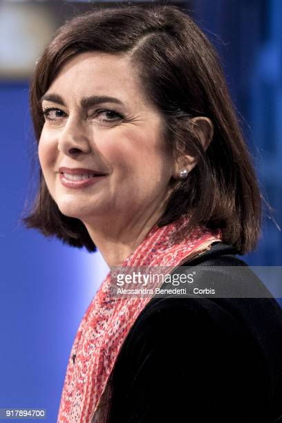 Current President of the Chamber of Deputies of Italy Laura Boldrini and candidate for the Senate in the forthcoming Italian general election attends...