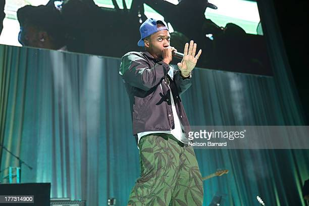 Curren$y performs onstage at the 2013 BMI RB/HipHop Awards at Hammerstein Ballroom on August 22 2013 in New York City
