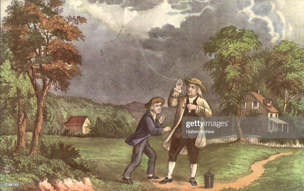 Franklin's Lightning Experiment : Fotografía de noticias