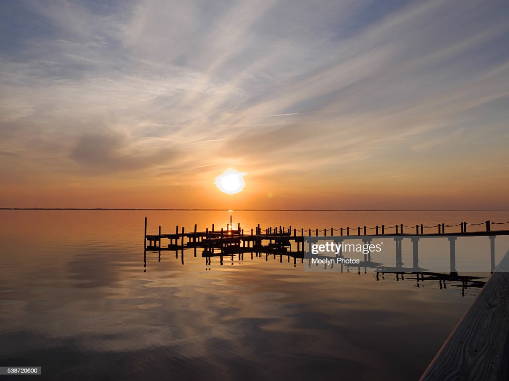 Currituck Soundouter Banks At Sunset High Res Stock Photo Getty