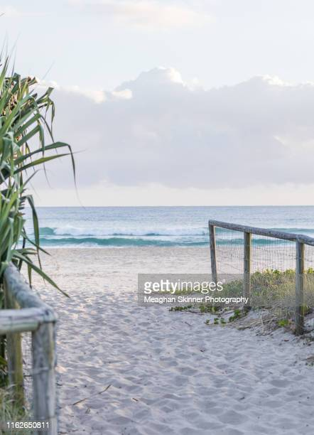 currumbin beach sunrise - gold coast queensland stock pictures, royalty-free photos & images