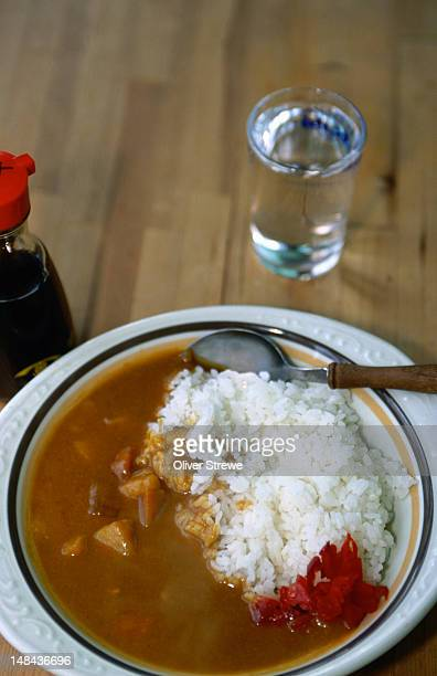 Curry and rice with a side order of soy sauce from Kochi.