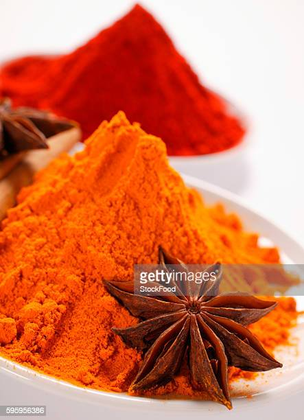 Curry powder and paprika, star anise