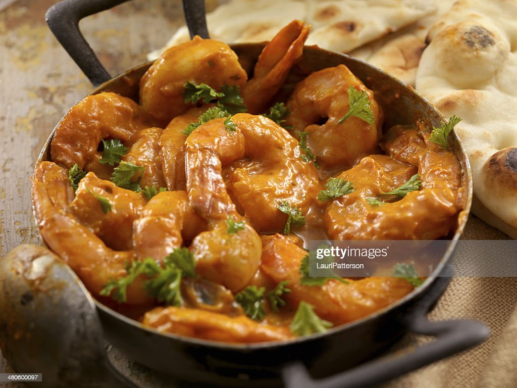 Curry Shrimp : Stock Photo