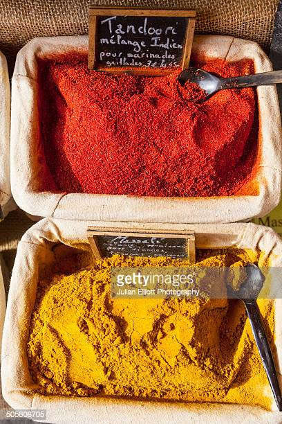 Curry spices on sale a French market