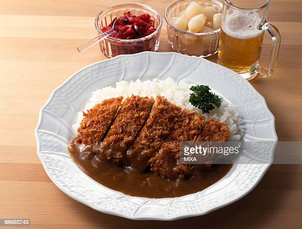 Curry with breaded pork cutlet