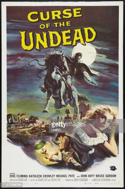 Curse Of The Undead poster bottom right Kathleen Crowley 1959