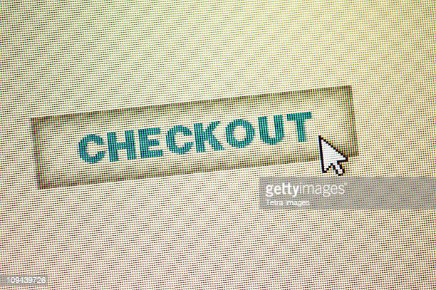 Curser by checkout icon on computer screen