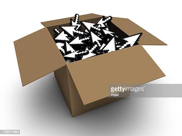 3D Cursors in a box.