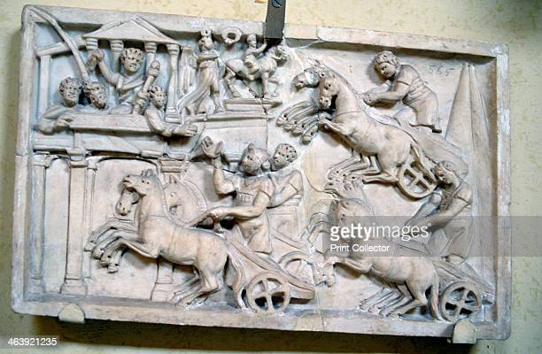 Cursum Equorum 2nd Century AD Relief carving depicting a chariot race From the Vatican Museum Rome