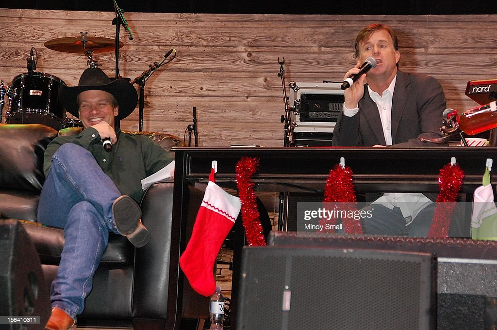 Curt Blake and Flint Rasmussen appear at Cowboy FanFest during the Wrangler National Finals Rodeo at the Las Vegas Convention Center on December 15, 2012 in Las Vegas, Nevada.