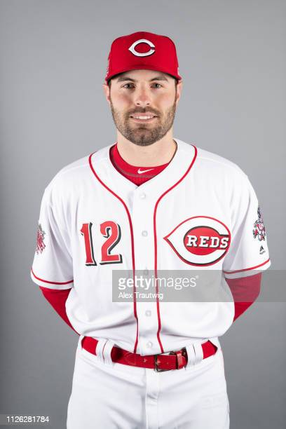 Curt Casali of the Cincinnati Reds poses during Photo Day on Tuesday February 19 2019 at Goodyear Ballpark in Goodyear Arizona
