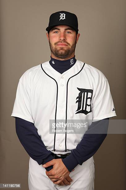 Curt Casali of the Detroit Tigers poses during Photo Day on Tuesday February 28 2012 at Joker Marchant Stadium in Lakeland Florida